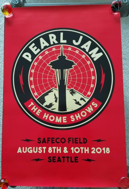 PEARL JAM - The Home Shows 2018 SEATTLE PROMO POSTER- RARE!