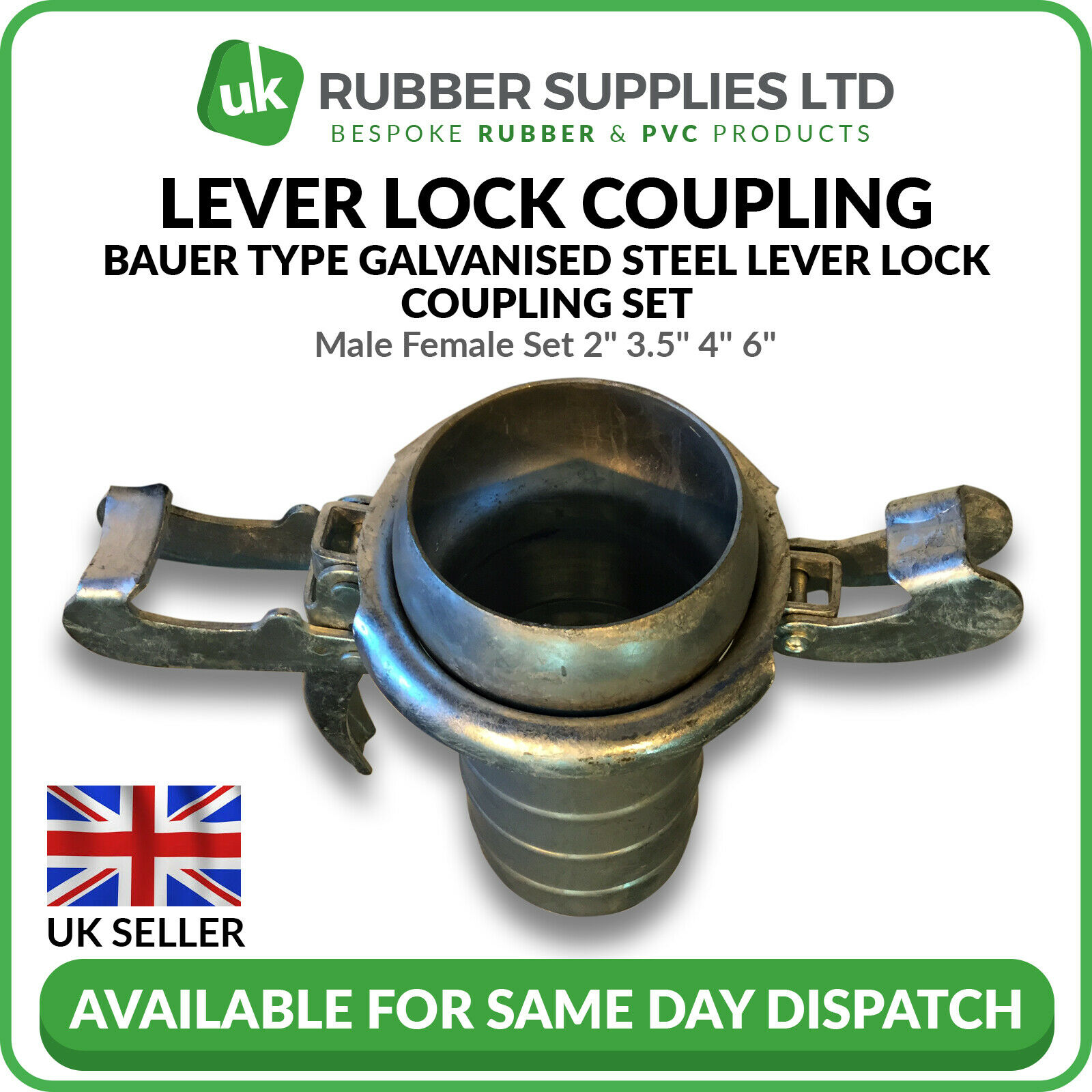Bauer Slurry Fitting Male Female Set 2  3.5  4  6
