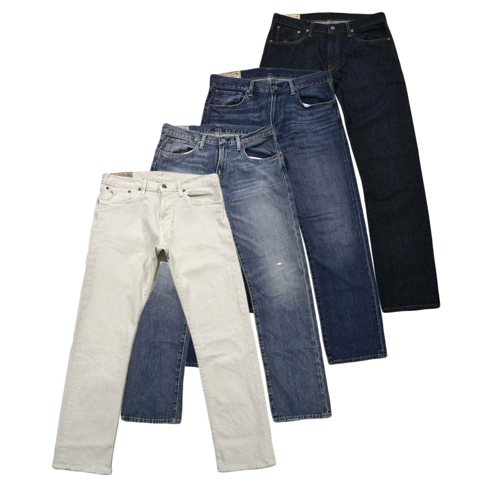 Polo Ralph Lauren Jeans Mens Straight Fit Pants Hampton Stonewashed New Nwt Prl