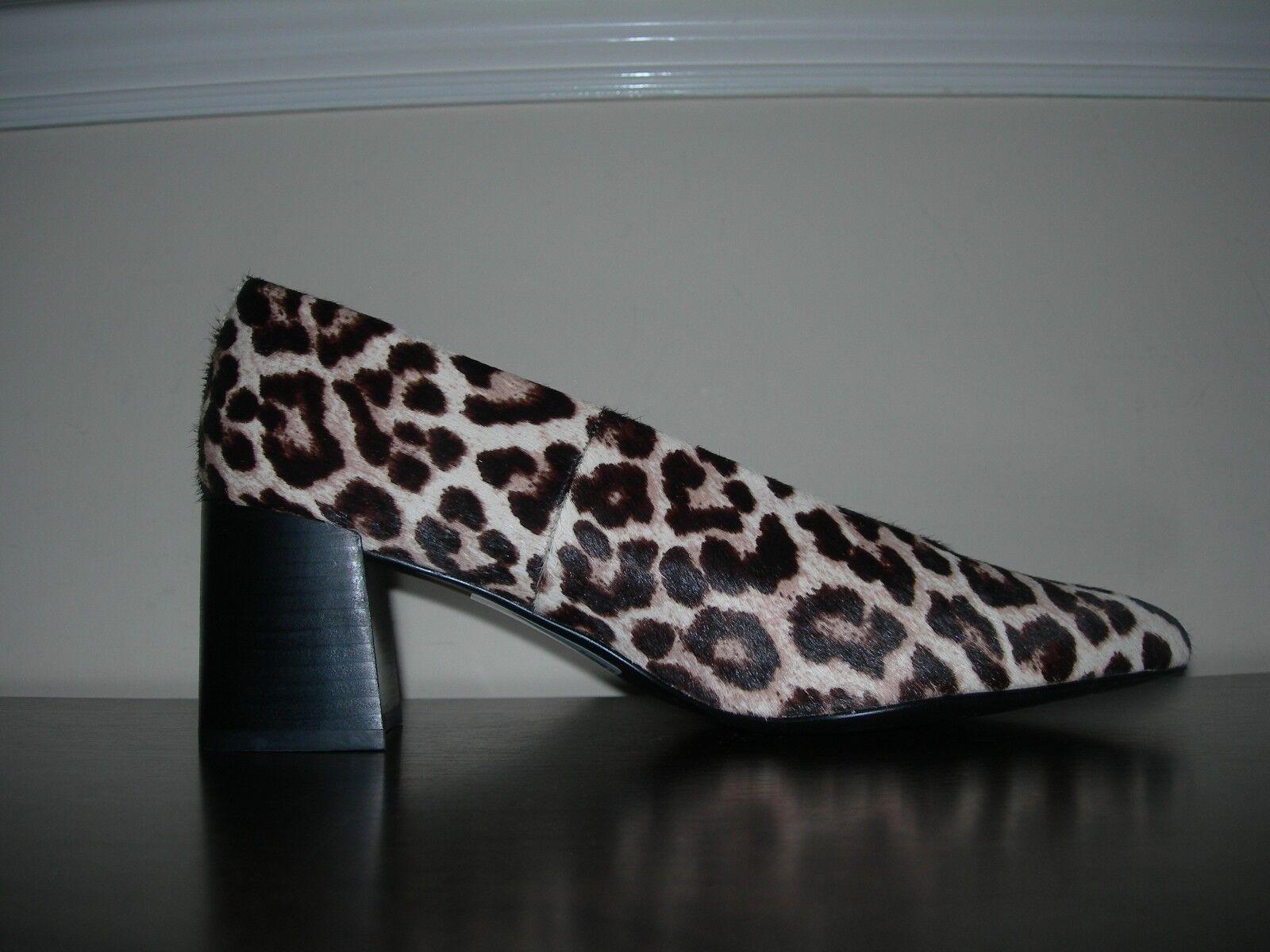 NEXT WOMEN'S Schuhe SLIP ON MID HEELS ANIMAL PRINT PONY HAIR EFFECT EU 39 / UK 6