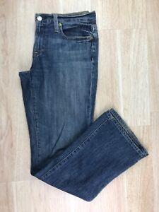J-Crew-Womens-Size-29-Medium-Wash-Blue-Denim-Boot-Cut-Mid-Rise-Zipper-Fly-Jeans