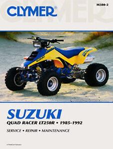 suzuki lt250r lt250 250 quad racer repair service manual boox 85 92 rh ebay com 1989 Suzuki LT230 Suzuki 250 Quad