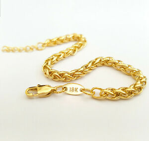 Source-4mm-thick-18ct-Gold-Braided-Wheat-Chain-Bracelet
