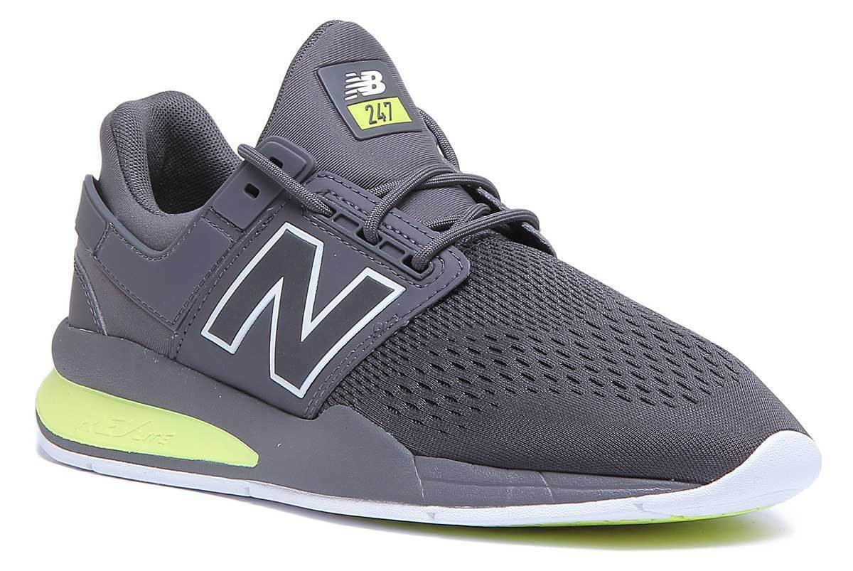New Balance 247 Mens Casual Mesh Athletic Trainers In grau Lime Größe UK 6 - 12