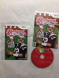 Nintendo Wii NFL Backyard Football 09 2009 Video Game (No ...