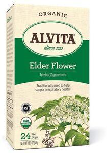 Alvita-Tea-Organic-Elder-Flower-Tea-24-Bag-S-2-Boxes-48-Tea-Bags-Total