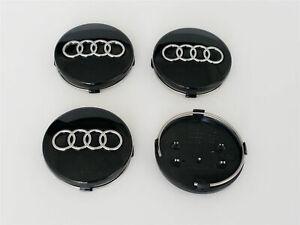 Negro-4-x-60mm-llantas-de-aluminio-llantas-tapa-tapacubos-Black-Wheel-cap-para-Audi