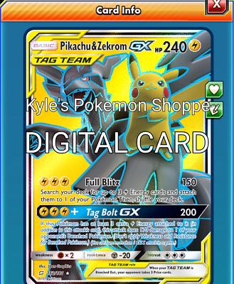 Pikachu /& Zekrom GX FULL ART FA 162//181 Team Up Pokémon Card NM Tag Team