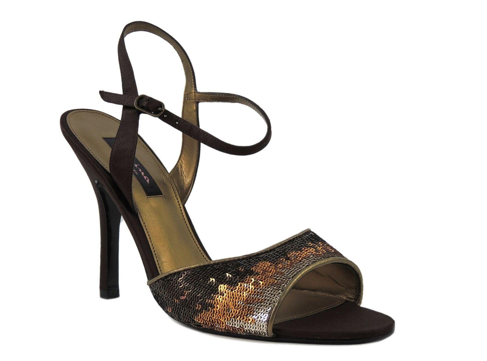 Nina Women's Cyrena Slingback Sandals Chocolate Bronze Size 11 M