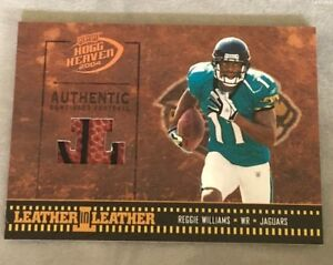 2004 Playoff Hogg Heaven Reggie Williams Game Used Football  Rookie Card NM-MT