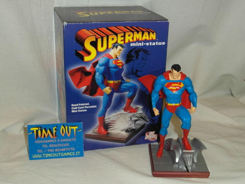 SUPERMAN 6  MINI-STATUE MINI-STATUE MINI-STATUE COLD CAST PORCELAIN JIM LEE TIM BRUCKNER DC DIRECT RARE 7ba765