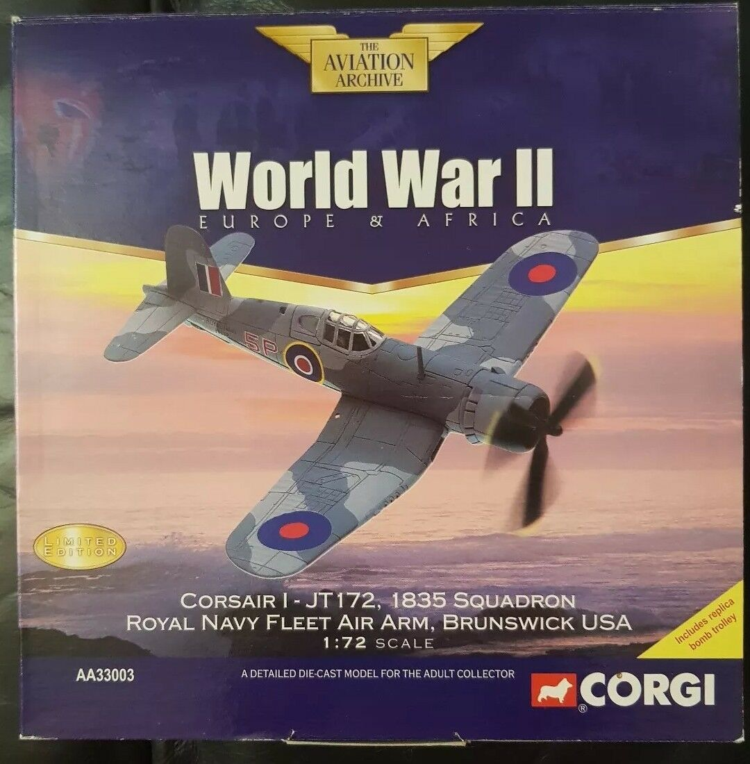 tiendas minoristas Corgi Corgi Corgi aviación Corsair I-JT172 1835 Sqn Royal Navy Fleet Air Arm USA AA33003  autentico en linea