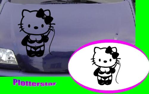 Hello Kitty strapse Motorhaube style tuning  Aufkleber Sticker leider JDM OEM