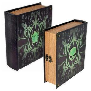 Details About Deathrite Grimoire Deck Box Spellbook Wooden Fabric Lined Magic Tcg Mtg Yugioh