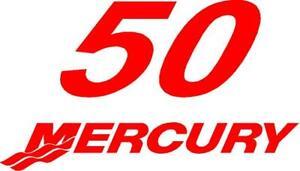 1999 - 2004 Mercury 50 Hp Reproduction Outboard Decal Optimax M50cf-afficher Le Titre D'origine Dans La Douleur