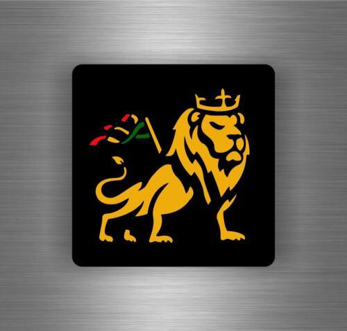 Autocollant sticker voiture rasta  reggae one love lion drapeau jamaique ref15