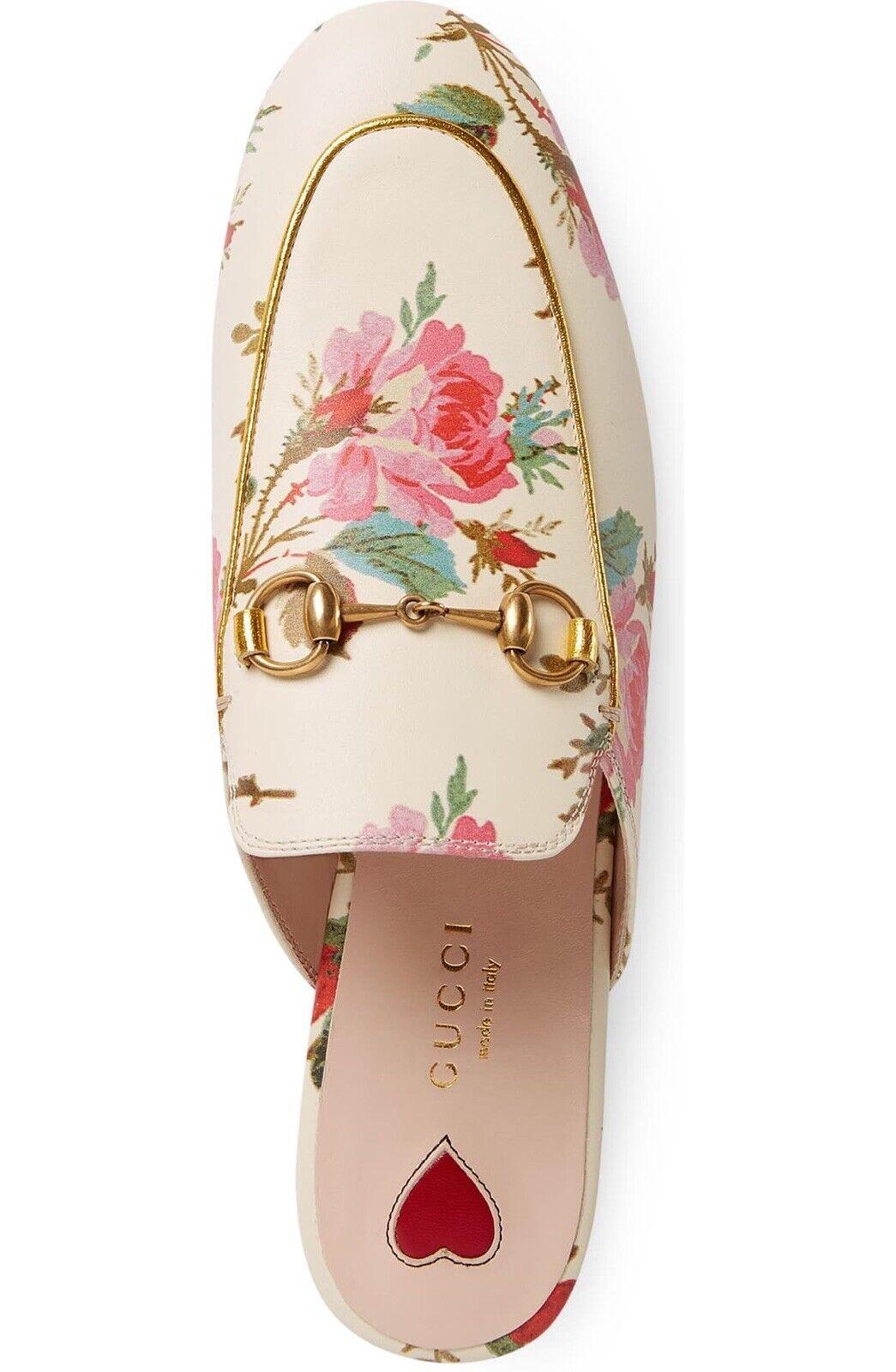 Rare Gucci Women Princetown Rose Floral Loafer Mu… - image 2