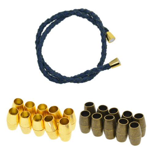 10 Sätze Metall Verschluss Kettenverschluss Magnetverschluss für Lederband