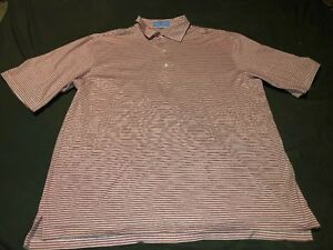 Mens-Fairway-amp-Greene-Golf-Polo-Shirt-Size-Large-Red-White-Striped-DR-PEPPER