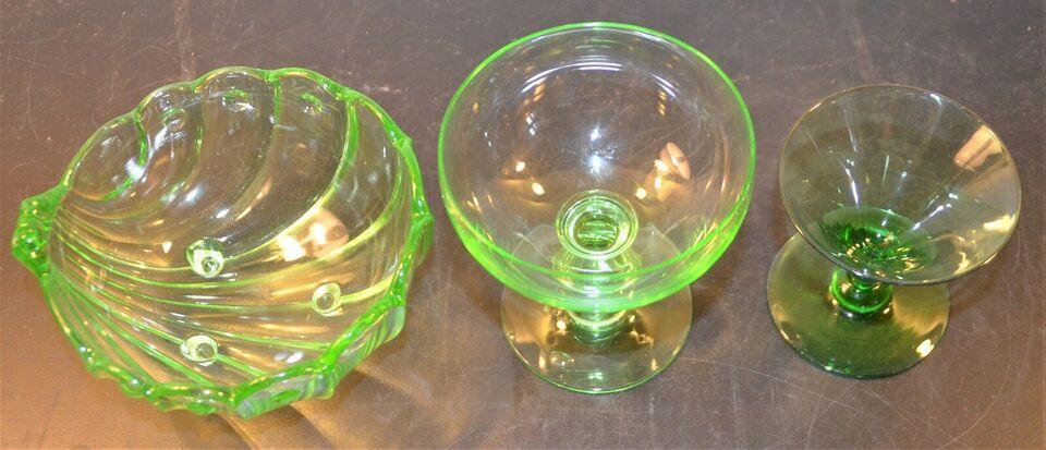 Glas, maj grønne glas