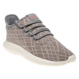 5be3a2c9afbb8 New WOMENS ADIDAS GRAY TUBULAR SHADOW TEXTILE Sneakers Running Style ...