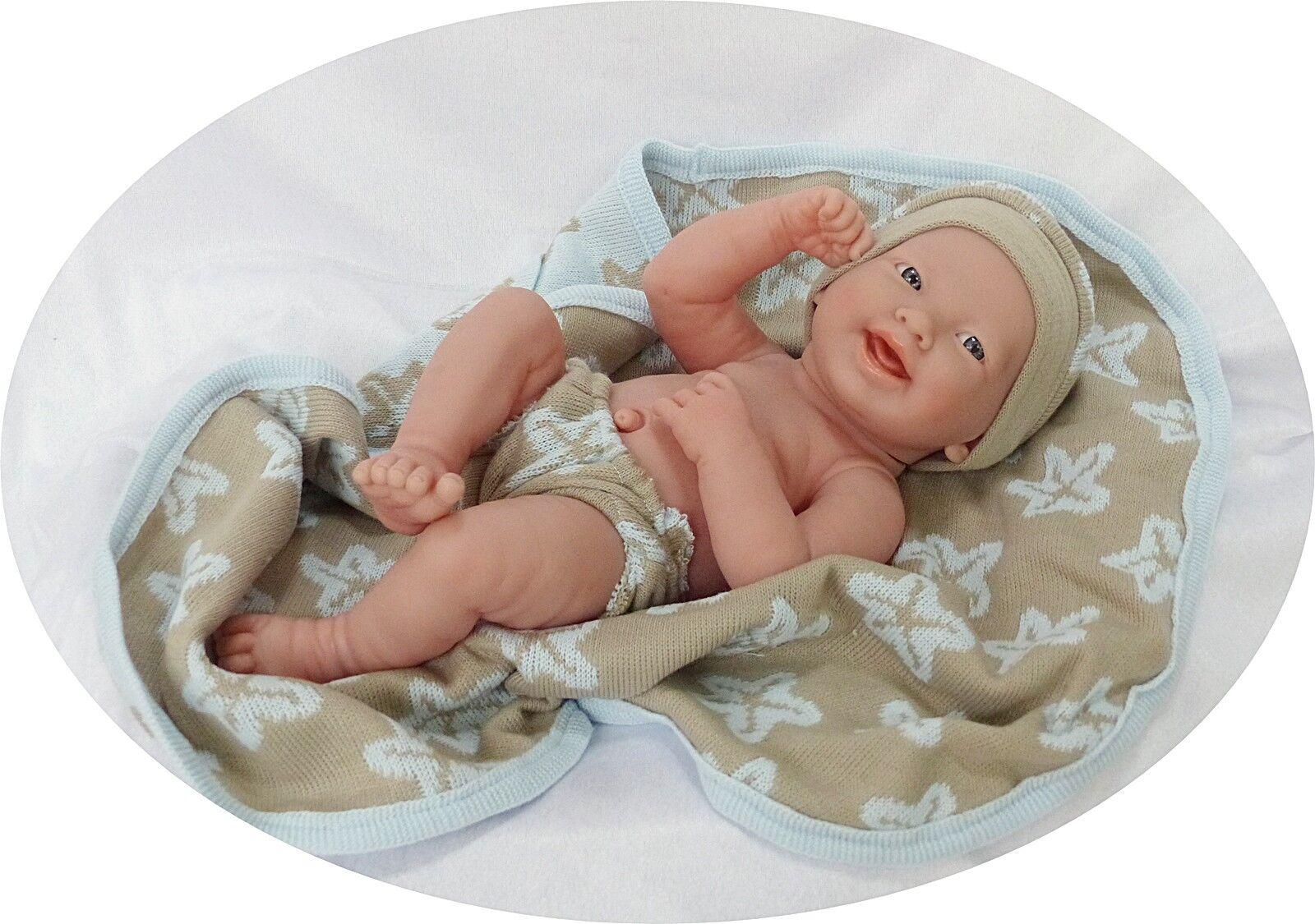 Berenguer lebensechte Babypuppe 36cm Vinylfullbody anatomisch korrekter Junge