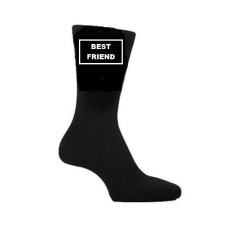 BEST FRIEND Vinyl Printed Socks Christmas Fathers Day Birthday Novelty Gift