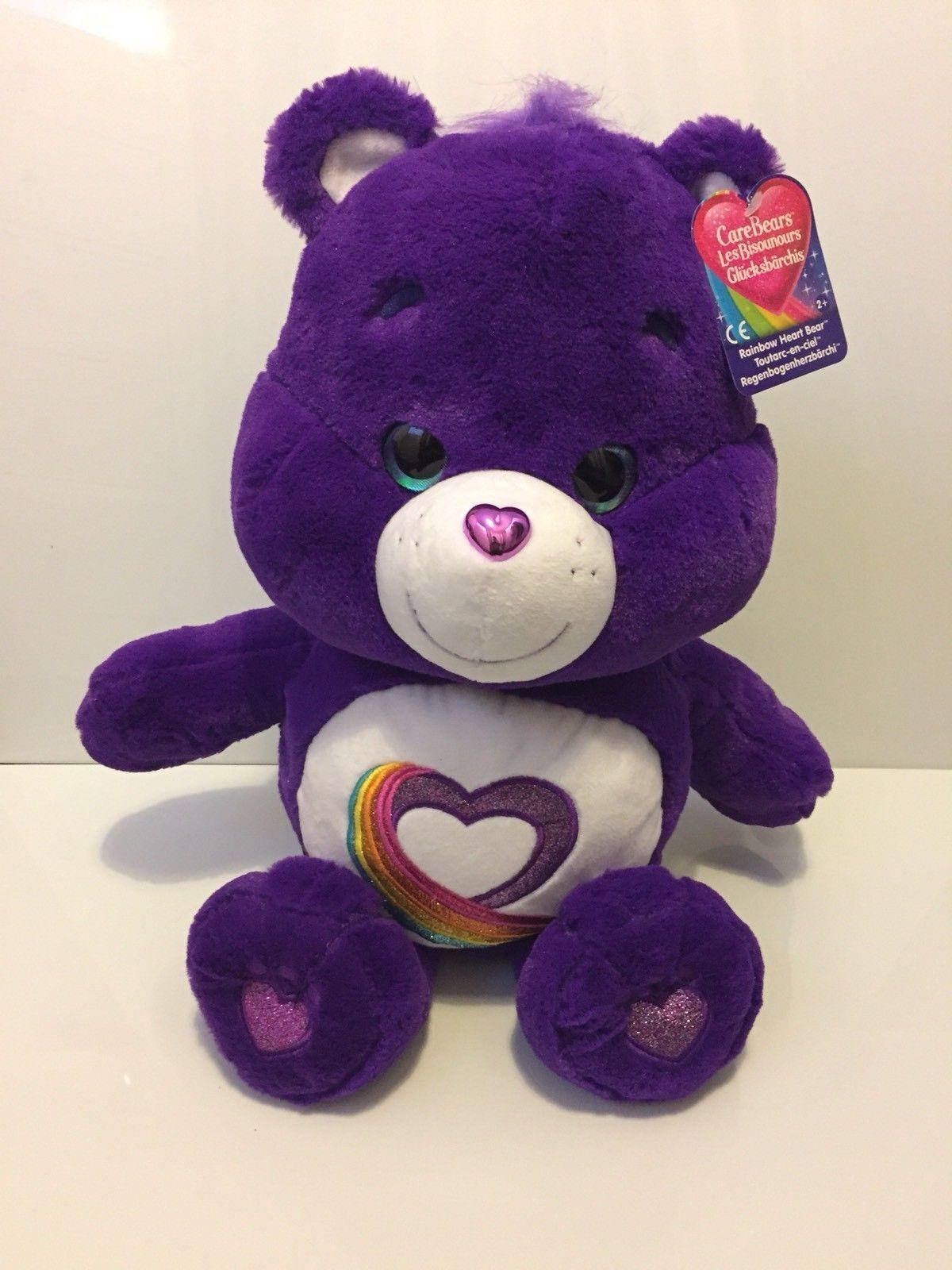 Large Large Large Carebears Rainbow Heart Bear 92fe38