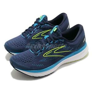 Brooks Glycerin 19 2E Wide Blue Yellow Men Cushion Road Running Shoe 1103562E443