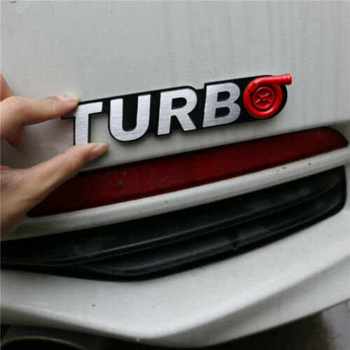 1PC TURBO Metal Sticker Badge Decal Emblem Fender Decal Sports Coupe Auto Racing