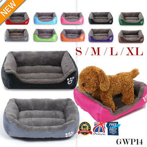 Large Pet Dog Cat Bed Puppy Cushion Soft Warm Kennel Mat Blanket Washable GWP14