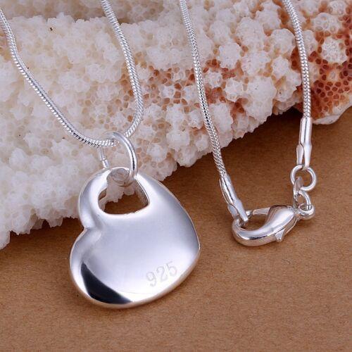 Collar cadena corazón en corazón regalo plata señora chica compromiso boda