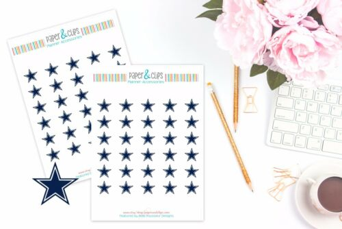 Perfect for all Planners like Erin Condren Dallas Cowboys Planner Stickers