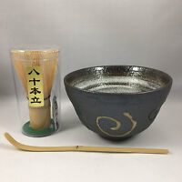 Japanese Tea Ceremony Matcha Bowl Scoop Whisk Gift Box Set Naruto, Made In Japan