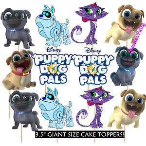 PUPPY DOG PALS CUPCAKE CAKE TOPPER DECORATION PARTY ...