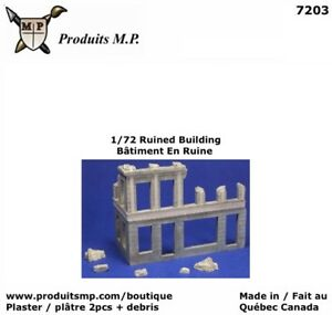 1/72 Building Ruin Plaster Produits MP Wargames House Diorama Maison # 7203