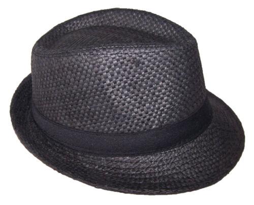FedHatK23 Z Fedora Trilby Hats For Kids Boys Hats Black Color