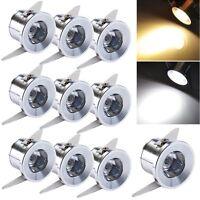 10-50er  LED Einbaustrahler Minispot Einbauleuchte Spot Einbau 1w Warmweiß/Weiß