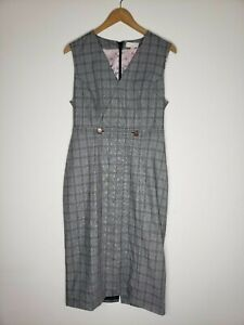 Ted-Baker-London-Ristad-Check-Plaid-Sheath-Dress-Size-3-US-Size-8-10