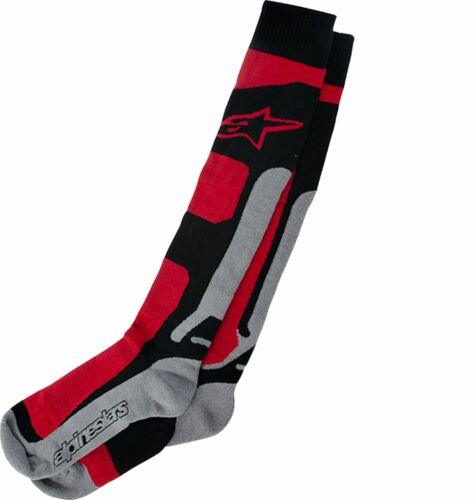 Alpinestars Motocross Socks Tech Coolmax Red//Black//Grey MX Adult Men/'s