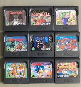 Sega Game Gear Cartridge Bundle Job Lot
