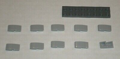 NEW Lego 11477 Light Blueish Grey Sloped Plate With Bow 1x2x2//3 6028813