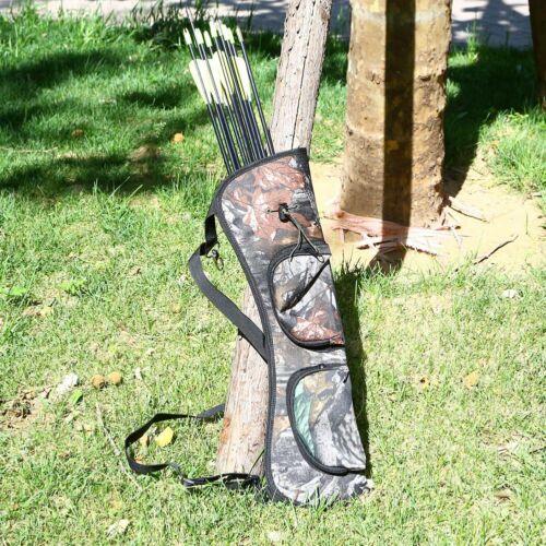 Hunting Archery Quiver Back Hip Waist Bag Arrow Bow Holder Pouch Zipper Pot