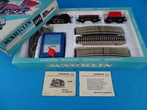 Marklin-2973-Starter-Set-Steamer-2-Freight-Cars-60-ies