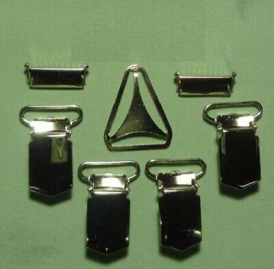 Bright 4 Hosentraegerclip 1 Dietro 2 Regolatore 25mm Argento Fragrant Aroma Crafts Other Art Supplies