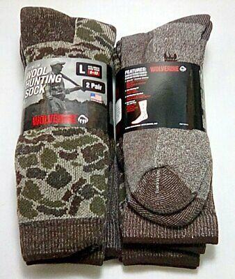 Wolverine Wool Blend Boot Socks 4 pair