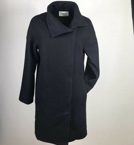 Coat Farhi Nicole Blend 10 Blogger By Relax Uk Size Cocoon Wool Boxy Zip zazfq