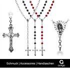 Rosenkranz Halskette Kreuzkette Damen Herren Kreuz Perlenkette Perlen Jesus