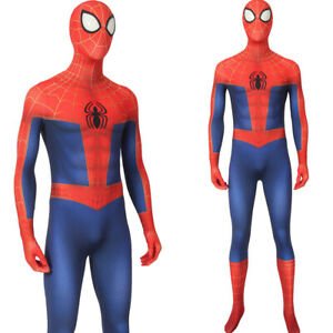 Spider-Man-into-the-Spider-Verse-Peter-Parker-Costume-Cosplay-Superhero-Suit