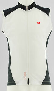 SUGOI-GS56306U-MENS-NWT-RS-S-L-SLEEVELESS-CYCLING-JERSEY-LARGE-BLACK-WHITE